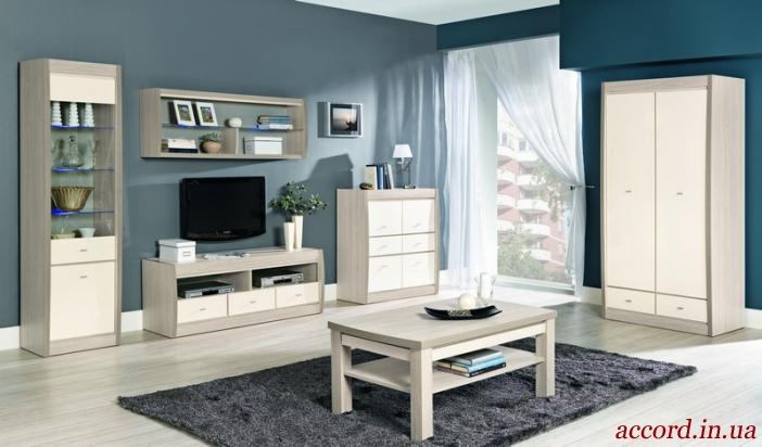 светлая модульная система Axel для спальни гостиной столовой